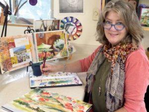 Jacqueline Newbold watercolor artist painter mixed media artist