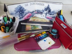 Here is what I take when I paint plein air with watercolors