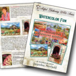 Jacqueline shows step-by-step how to paint with waterolor