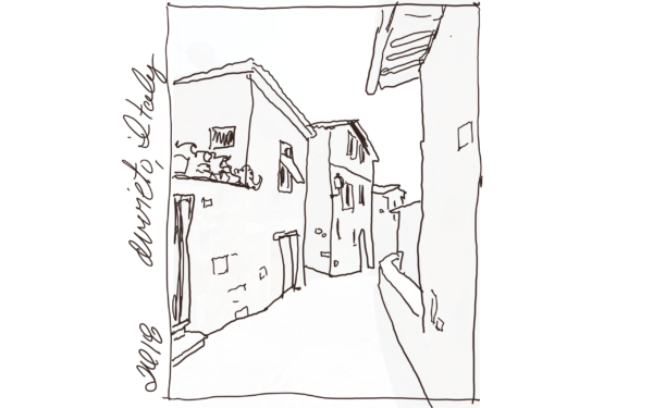 Sketch of Orvieto Street