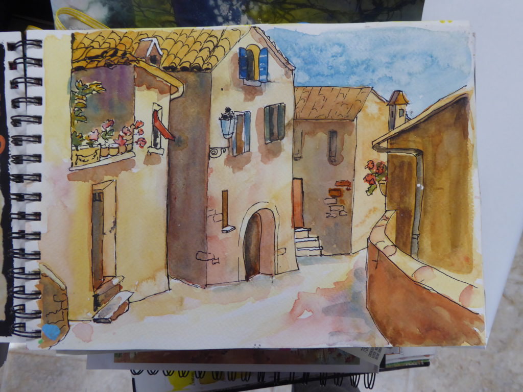 Watercolor Painting of Orvieto, Italy