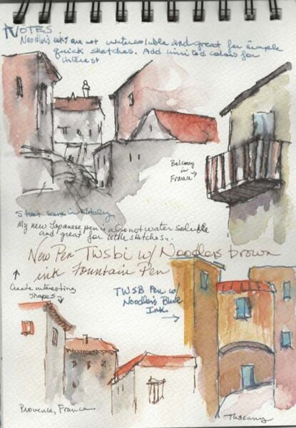 Pen and Ink Village Sketch